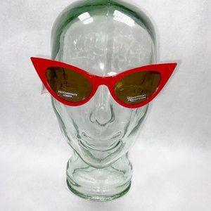 Juicy Red Pin-Up Girl Cat Eye Sunglasses